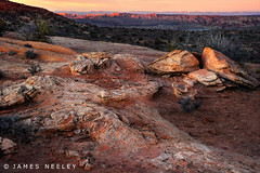 Seeking Promises Afar Off (James Neeley) Tags: sunset landscape utah arches archesnationalpark hdr 5xp handheldhdr jamesneeley flickr23