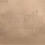 """<b>Illegible Title</b><br/> Frans Wildenhain Illegible Title Pencil, n.d. LFAC #487<a href=""""http://farm8.static.flickr.com/7005/6466264069_062419c907_o.jpg"""" title=""""High res"""">∝</a>"""
