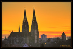 Ratisbona sunset (P.Hcherl) Tags: sunset orange germany bayern deutschland bavaria nikon sonnenuntergang cathedral dusk dom kirche steeple tamron regensburg hdr oberpfalz d300 kirchturm 2011 ratisbona upperpalatinate doubleniceshot mygearandme mygearandmepremium mygearandmebronze mygearandmesilver mygearandmegold tamron18200mmf3563xrldifmacro