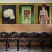 Indoors Of Waiting Room With Organs Depicted On Wall, Hargeisa Somaliland