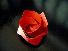 Kawasaki's (Thirty-)One Minute Rose (oschene) Tags: rose origami toshikazukawasaki