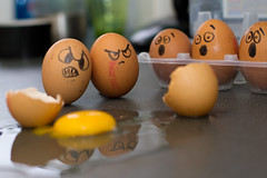 day 77 - bad eggs (explore 2011_12_11) (AlexTurton) Tags: broken canon funny egg humor creative bad humour 7d eggs 365 suprise humptydumpty brokeneggs brokenegg badegg witnessprotection project365 badeggs canon1740mm