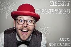 Merry Christmas from Dom! (domclark) Tags: christmas red portrait hat self canon is dom flash moustache clark l 5d usm merry speedlight softbox 550ex mk waistcoat tweed strobe 24105 mk1 interfit strobist domclark