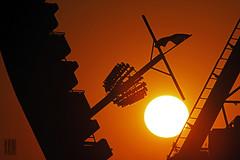 Sailing into the Sunset (Ian Sane) Tags: park carnival sunset oregon ian amusement boat warm sailing ship ride state fair images salem tones sane the into