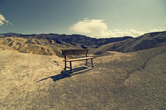 no man's land // Death valley (Benjamin Godard Photography) Tags: usa mountain bench nevada deathvalley nomansland banc montagnes deathvalleynationalpark etatsunis valledelamort