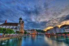 LUCERNE HDR (Rex Montalban Photography) Tags: switzerland europe luzern lucerne hdr photomatix rexmontalbanphotography 8imagesmerged