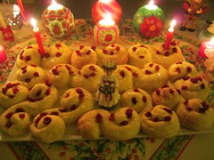 St. Lucia Bread (Anna Sunny Day) Tags: bread candles saintlucia stluciaday stluciabread
