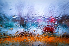 December Rain (Doug Wallick) Tags: abstract water rain minnesota drops colorful december crystal twincities windshield picnik lightroom a230 mygearandme