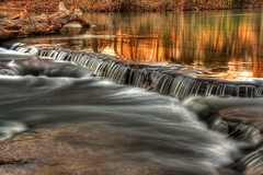 Even flow (super*dave) Tags: longexposure waterfall arkansas hdr canon60d naturaldam