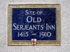 Photo of Old Serjeants' Inn blue plaque