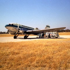Air Rhodesia DC-3 (Andy961) Tags: wankie rhodesia hwange zimbabwe airrhodesia airliners airplanes aircraft airports douglasdc3 dc3 dakota c47 vpykp wkm kodacolor 126 film