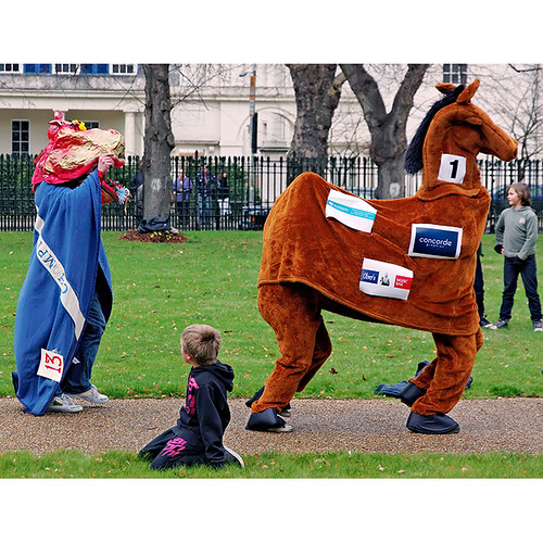 Greenwich charity pantomime horse race