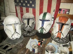 Delta Squad Progress (thorssoli) Tags: starwars costume helmet replica armor prop republiccommando deltasquad