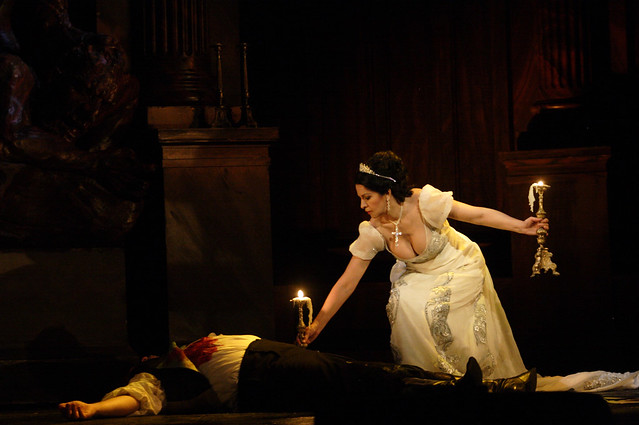 "Angela Gheorghiu and Bryn Terfel in Jonathan Kent's production of Tosca during the Royal Opera House 2010/11 season.   <a href=""http://www.roh.org.uk"" rel=""nofollow"">www.roh.org.uk</a> Photo: Catherine Ashmore"