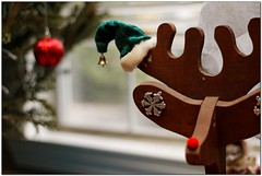 (Mr. Greenjeans) Tags: christmas xmas decorations home reindeer holidays bell ornaments canonef50mmf18ii elfhat christmas2011
