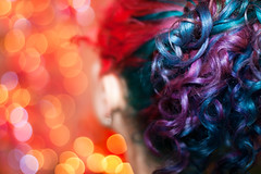 Day 26 of 365 - Year 3 (wisely-chosen) Tags: selfportrait me december bokeh canon50mmf18 cameraraw 2011 365days naturallycurlyhair canonspeedlite430exii manicpanicenchantedforest adobephotoshopcs5extended manicpanicrocknrollred herbalessencestouslemesoftlyconditioner onenonlyarganoiltreatment redkenallsoftheavycream