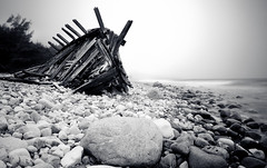 48/52 stranded (Maximilian Zimmermann) Tags: holiday storm beach germany photography coast photo sweden schweden natur olympus balticsea wreck holz ostsee kste felsen einsam land maximilian wrack sturm 14mm e520 maximilianzimmermann