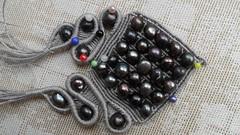 ciondolo visione totale (patty macram) Tags: collier macrame collane gioielli manufatti ciondoli accessori margarete macram margaretenspitze