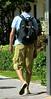 Tread Gear (LarryJay99 ) Tags: park street feet walking legs candid hunk sneakers sidewalk footwear backpack flipflops stud hunks studs sunnyday delraybaech braghettoni ilobsterit