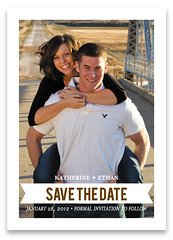 Ombre Chevron Wedding Save the Date