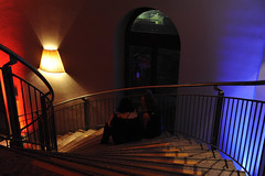 Silvesterparty im Zoopalast (8) (Barbara Walzer) Tags: rot treppe farbe silvester zoopalast 311211