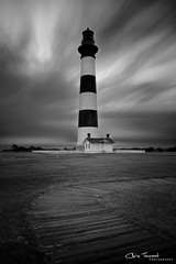 Approaching Storm ([Chris Tennant]) Tags: longexposure blackandwhite bw lighthouse monochrome clouds canon island nc northcarolina le bodie outerbanks obx nationalseashore 24105mm neutraldensity nd110 5dmkii christennantphotography