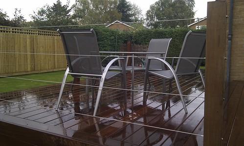 Hardwood Decking Alderley Edge - Modern Family Garden. Image 1