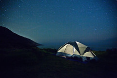 holes in the universe (Andy Kennelly) Tags: california cliff night creek dark stars big long exposure glow view tent holes sur after campground universe kirk unplugged