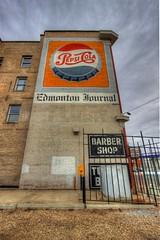 Old-timey Pepsi and Edmonton Journal building art (Steve Boer) Tags: building canon mural edmonton historic pepsi hdr 1022