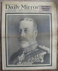 DAILY MIRROR (old school paul) Tags: 1936 vintage newspapers frontpage dailymirror georgev
