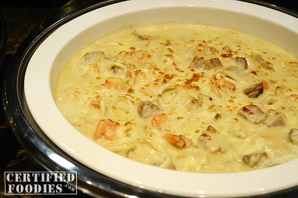 Mix Seafood Au Gratin at the F Cafe in F1 Hotel
