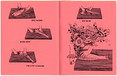 """Page spread from """"Foie Gras"""" - issue 1 by Edie Fake and the Joy of Cooking (fotoflow / Oscar Arriola) Tags: usa chicago zine art illustration america 1 book us diy artwork midwest artist drawing united fake il independent american artists indie gras states vol edie publishing zines volume selfpublished foie ilinois photocopied"""