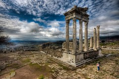 the Temple of Trajan, Turkey (Nejdet Duzen) Tags: trip travel history turkey temple trkiye ruin izmir harabe pergamon tapnak pergamum bergama turkei seyahat tarih trajantapna mygearandme thetrajanoftemple