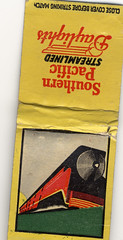 Southern Pacific Matches (pleasedontfront) Tags: railroad train fire southern match passenger streamlined matches freight daylights diningcar southerpacific