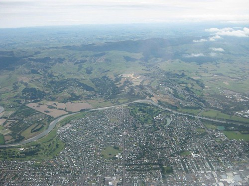 Palmerston North from the air - GDG January 2012