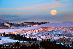 Swan Valley Moonset (James Neeley) Tags: moon sunrise landscape idaho moonset swanvalley jamesneeley flickr24