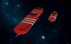 UFC Tanker Fleet (Red Spacecat) Tags: lego space homeworld tanker moc microspace feros microscale microspacetopia noveria