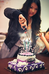 Lighting Candles (N. Maung) Tags: birthday portrait cake tampa nikon candles cousin lighter ei sweetsixteen d5000
