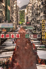 (briyen) Tags: street blur photography long exposure market hong kong american 29 mongkok hdr