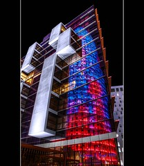 Torre Agbar Nr. 2 - Reflection (2nd try) (LaTietze) Tags: reflection photoshop torre hdr torreagbar agbar photomatix tonemapping bcnbarcelona mygearandme mygearandmepremium mygearandmebronze mygearandmesilver ringexcellence