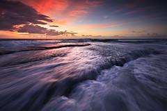 Newport Surge (Xenedis) Tags: cascade clouds flow newport newportbeach ocean rocks seascape surge sunrise water waves newsouthwales nsw australia