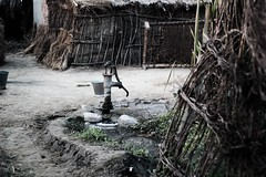 Handpump (AnkitPhotos) Tags: house home water village hand huts pump hut twigs muddy cot borewell tubewell twines