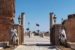 Guarding the gate (peak4) Tags: horse guard mosque morocco hassan rabat