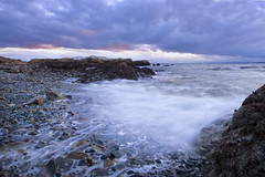 The Greatest Kind of Courage (Ireena Eleonora Worthy) Tags: winter sunset canada storm bc britishcolumbia vancouverisland esquimalt macauleypoint freakingfreezing northernstraitsphotography