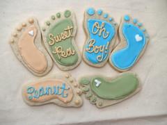Baby feet cookies (nikkicookiebaker) Tags: baby feet cookies