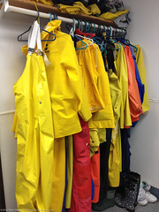 The raincoat overall rack colorful
