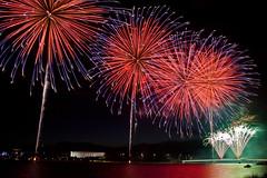 Australia Day Fireworks 2012 (Canon-Kid) Tags: lake fireworks australia canberra griffin burley