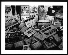 Need a Light? (adoephoto) Tags: blackandwhite bw film polaroid instant fujifilm landcamera flashbulb flashcube portraitkit fp3000b