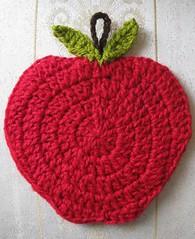 Apple potholder (Lauris196) Tags: apple manzana crochet cocina potholder agarradera