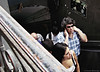 If you ever need a helping hand... / Si llegaras a necesitar una mano ... (Claudio.Ar) Tags: street city people woman color men argentina subway buenosaires metro candid sony ciudad stairway dsc h9 claudioar claudiomufarrege saariysqualitypictures